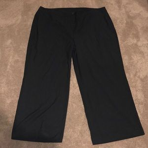 Lane Bryant Black Glitter Pin Stripe Dress Pants